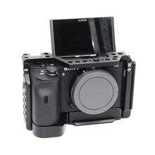 Gabbia fotocamera per Sony a6600 Pro Camera Cage L Piastra A Sgancio Rapido Doppia Testa Scarpa Freddo Stabilizzatore Rig Cage Per sony A 6600