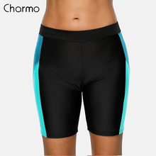 Charmo Ladies Bikini Sports Bottom Women  Swimming Trunks Swimwear Briefs Slim Patchwork Skinny Swim Shorts