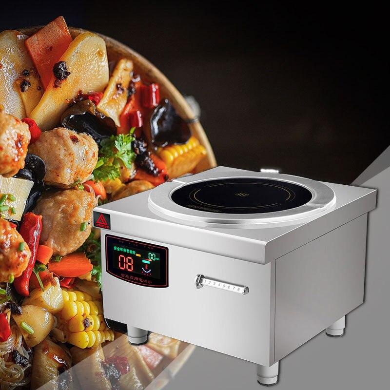 220 В/8000 Вт Высокая мощность Коммерческая индукционная плита Ресторан плоская суповая плита бизнес индукционная плита суповая плита