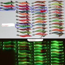 20pcs squid jigs size 3.5#13.5cm 20g,squid hook, fishing lure ,squid lures,Octopus Cuttlefish Shrimp Baits ,luminous lures