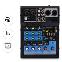 4 Channel Bluetooth USB Cable Professional Stage Performance Audio DJI Mixer Sound Board Console Mixing Station Controller EU