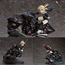 26CM Anime Fate Action Figure Grand Order Joan of Arc Saber Alter Altria Pendragon With Motorcycle Ghost Dress Ver.PVC Model Toy fate grand order fgo anime saber mordred joan of arc frankenstein summer swimsuit rubber keychain