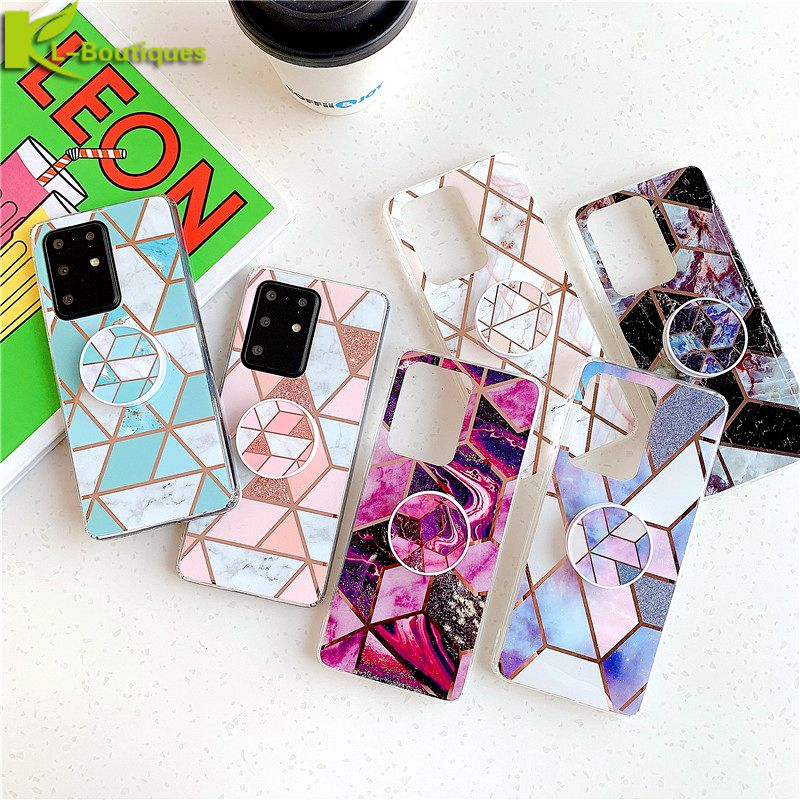 For Samsung A51 Case Na For Etui Samsung Galaxy A51 Case Cover Galaxy S 20 Ultra S20plus A 51 A71 Funda Marble Phone Case Stand