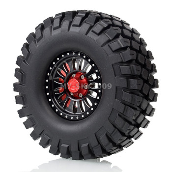 "4pcs 1.9"" Wheel Rims Beadlock Tires 112mm Tyre For 1/10 RC Rock Crawler SCX10 D90 D110 CC01 TRX4 TF2 MST"
