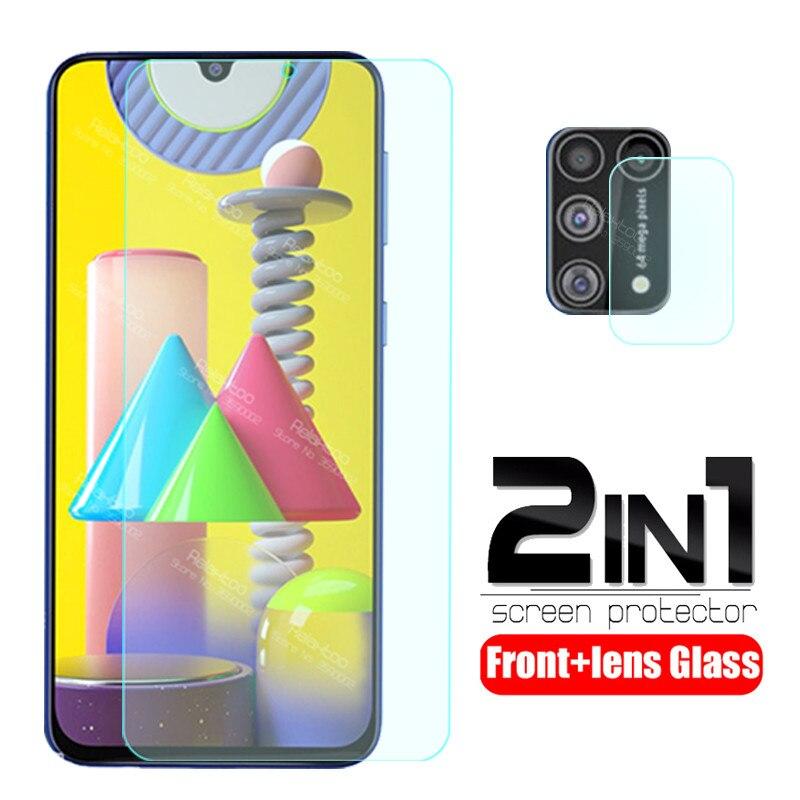 Защитное стекло 2 в 1 для samsung m31, защитная пленка для объектива камеры samsung Galaxy m31, закаленное стекло для samsung m315, f, m, 31