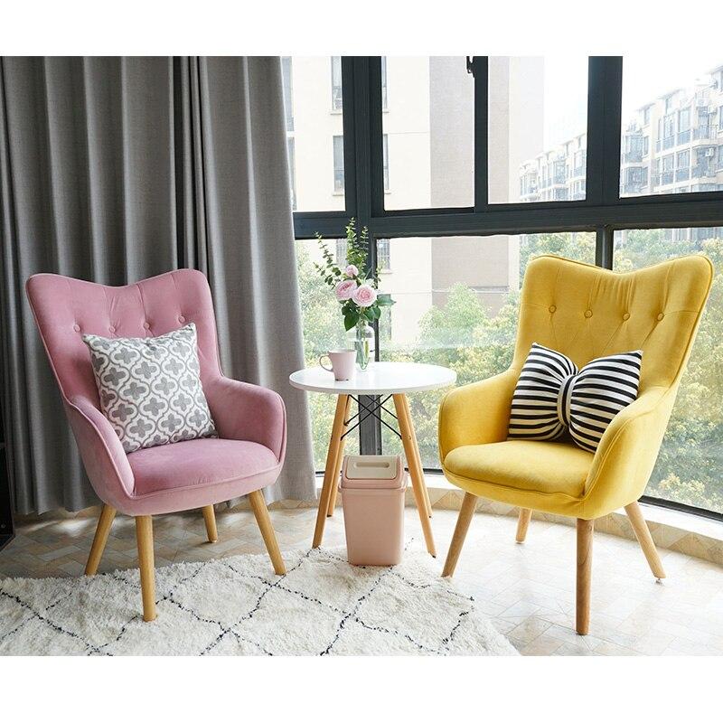 Nordic Restaurant Chairs Rocking Chair Sofa Adult Nap Chair Fauteuil Moderne Living Room Furniture Sallanan Sandalye Cheap