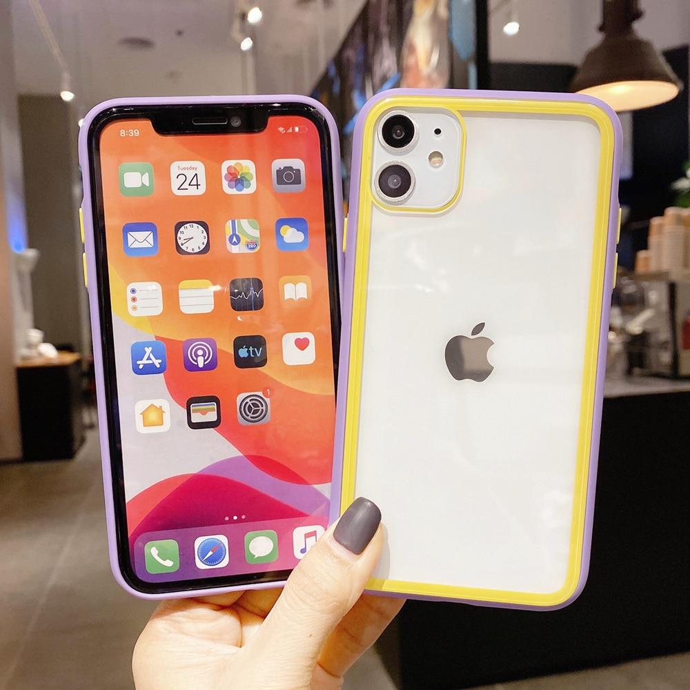 Shockproof Tangguh Transparan Bumper Kasus untuk iPhone SE 2020 Se2 - Aksesori dan suku cadang ponsel - Foto 3