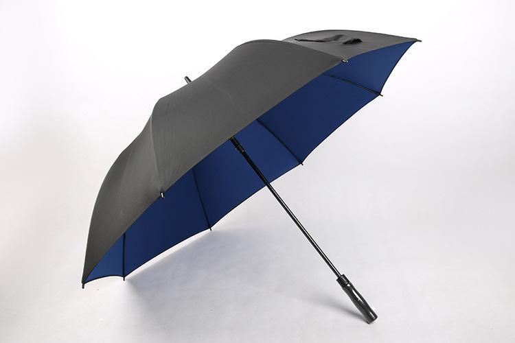 Manufacturers Direct Selling Really Double-layer Golf Umbrella Full Fiber Skeleton Business Umbrella Customizable Logo Advertise