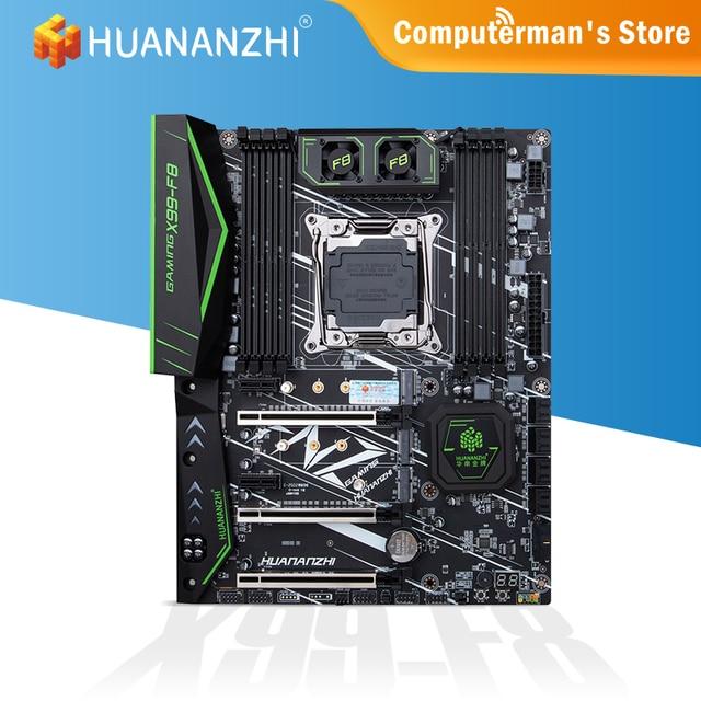 HUANANZHI X99 F8 X99 Motherboard Intel XEON E5 LGA2011-3 All Series DDR4 RECC NON-ECC memory dual NVME M.2 Server workstation