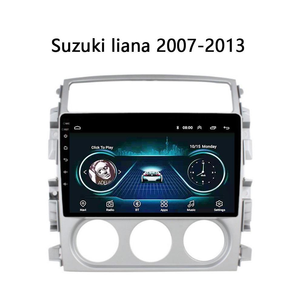 """Car DVD for Suzuki LIANA 2007 2008 2009 2010 2011-2013 radio with frame 2.5D touch screen GPS player SWC BT WIFI Android 8.1 9"""""""
