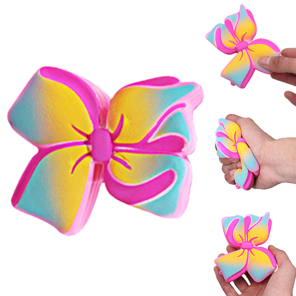 New Simulation Bow Stress Reliever Simulated  Bow Scented Slow Rising Kids Squeezable Toys For Children антистресс для рук L1224