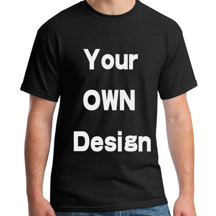 BTFCL Custom Men Women Customized T Shirt Print Like Photo or Logo Text DIY Your OWN Design 100% Cotton Harajuku black TShirt
