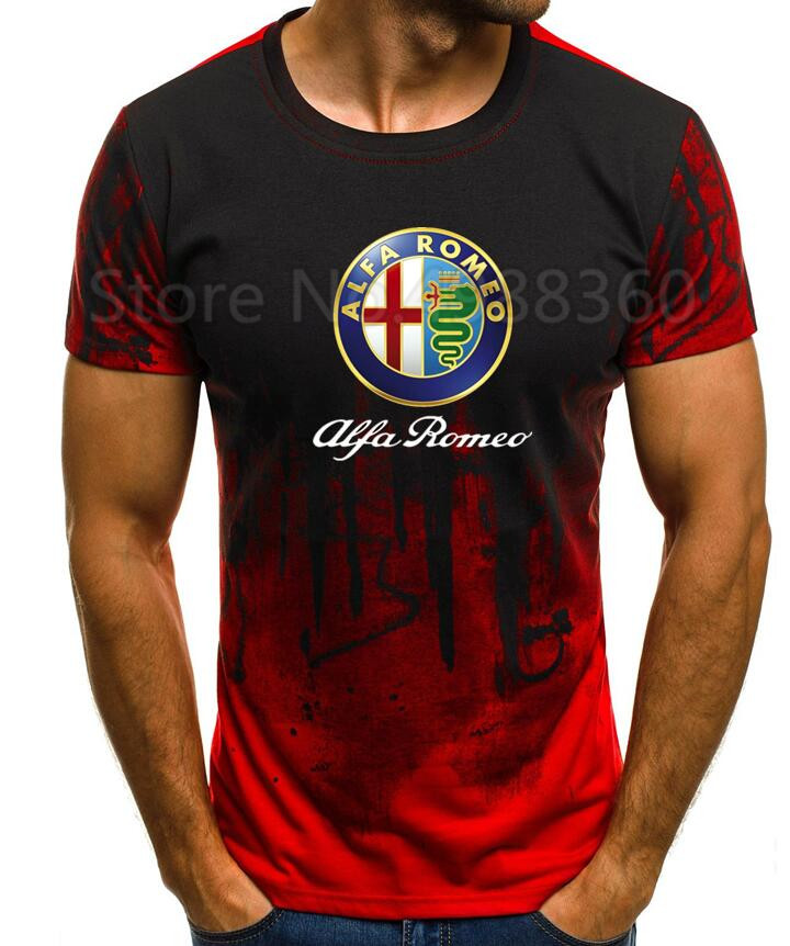 Men 2019 High Quality M-5XL Alfa Romeo T-Shirt MEN T-SHIRT Print T Shirt Short Sleeve Casual Tops Summer T-shirt