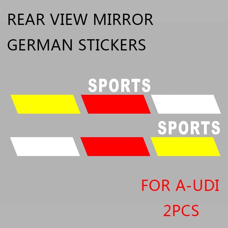2 шт., наклейки на зеркало заднего вида для Audi TT A1 A3 A4 B5 B6 B7 B8 A5 A6 C6 C7 A7 A8 D3 D4 Q3 42 Q5 8 Q7 4L R8