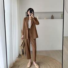 Модный женский костюм с длинным рукавом 2020 Новый Повседневный