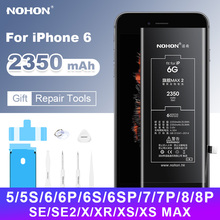 Nohon Batterie for iPhone 6 Battery for iPhone 6S 7 8 Plus SE X XR XS Max High Capacity Replacement Bateria