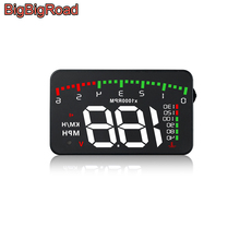 BigBigRoad Car Hud Display OverSpeed Warning Windshield Projector For Ford Escort Focus 2 3 MK1 MK3 Taurus Mondeo MK4 MK5 Ranger
