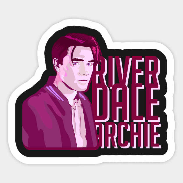1PCS Riverdale Archie Fan Art Warner Series Sticker For Trolley Case Backpack Table PVC Car DIY Cool Skateboard Decal