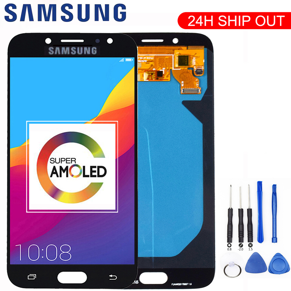 AMOLED Original Display For SAMSUNG Galaxy J7 Pro LCD Display Touch Screen J730 J730F for SAMSUNG J7 Pro LCD Screen Replacement|Mobile Phone LCD Screens| |  - title=