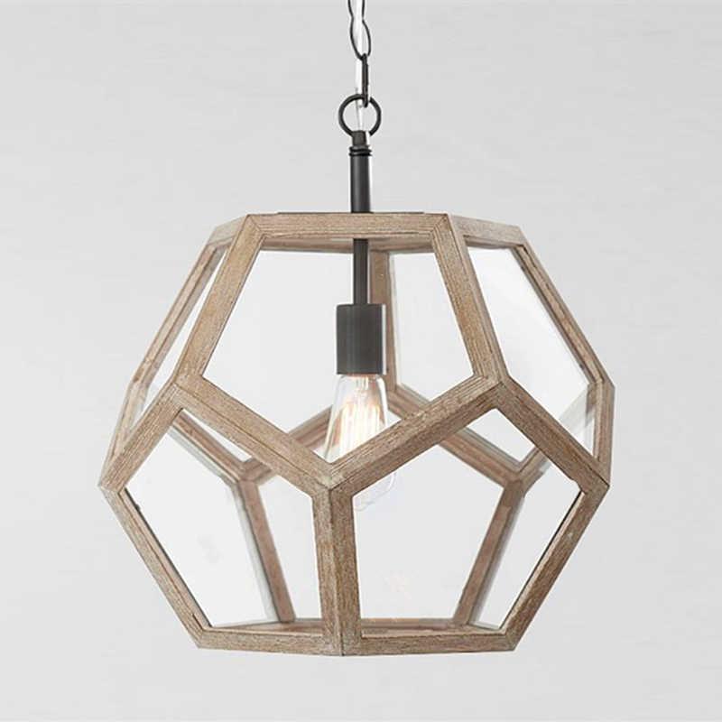 Moderne minimalistische ronde houten kralen E27 led hanglamp kinderen slaapkamer crystal hanglamp woonkamer hotel keuken lampen