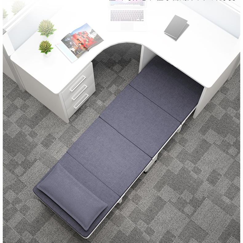 Folding Bed Single Bed Simple Four Fold Portable Wood Board Office Lunch Bed Home Adult Siesta Bed Camp Bed
