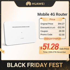 2020 New Arrival HUAWEI Mobile 4G Router LTE SIM Card Router Hotspot NFC Connect CPE 300Mbps Access Point Multi-Language