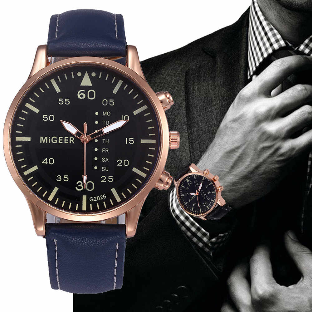 Horloge Mode Retro Ontwerp Leather Analoge Quarts Horloges Mannen Polshorloge Jurk Dames 2019 Top Merk Luxe Casual Klok O /N8