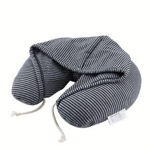 Morbido Con Cappuccio U-cuscino In Poliestere Con Coulisse Microsfere Del Corpo di Viaggio Cuscino Del Collo di Casa Aereo Cuscini Auto Portatile Tessili Per La Casa(China)