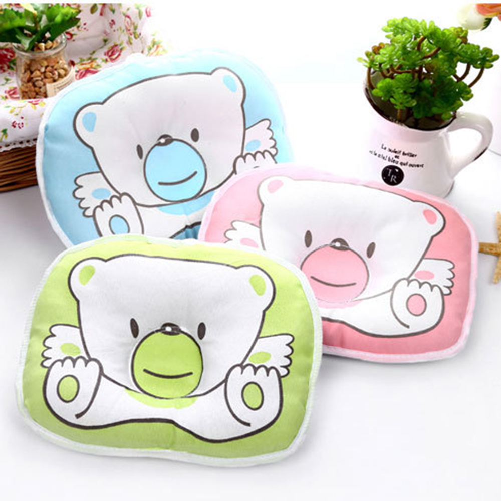 Baby Pillow Unisex Newborn Infant Cotton Flat Head Baby Pillow Makes Babys Head Round Protect Plagiocephaly Flat Head Syndrome