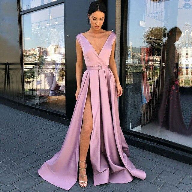Cazdzy Satin nouvelle Robe De soirée Vestido formel Noiva longue Robe De soirée De bal Robe De soirée formelle Robe rouge pour la fête De mariage