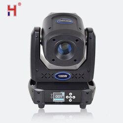 Leier 100w 7 farben + 8 gobos Led Spot DMX 512 15CH Moving Head Bühne Lichter Fokus 5 Facet prisma Effekt Beleuchtung