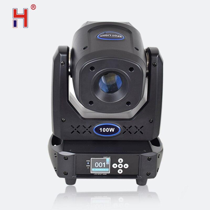 Lier 100W 7 Kleuren + 8 Gobos Led Spot Dmx 512 15CH Moving Head Podium Verlichting Focus 5 Facet prisma Effect Verlichting