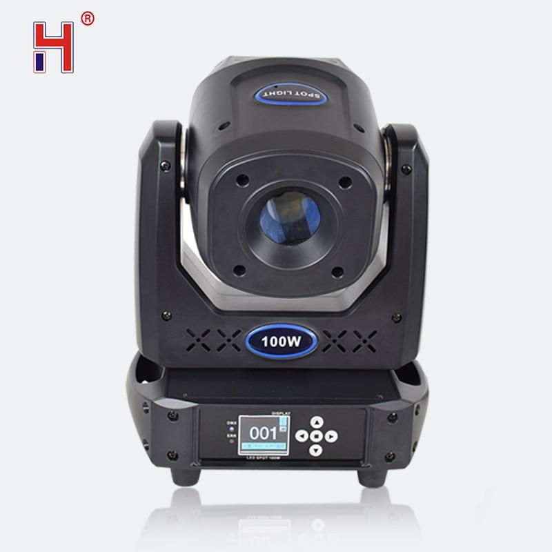 Lira 100w 7 colori + 8 gobo Led Spot DMX 512 15CH In Movimento Testa Luci del Palcoscenico di Messa A Fuoco 5 Sfaccettatura prisma Effetto di Illuminazione