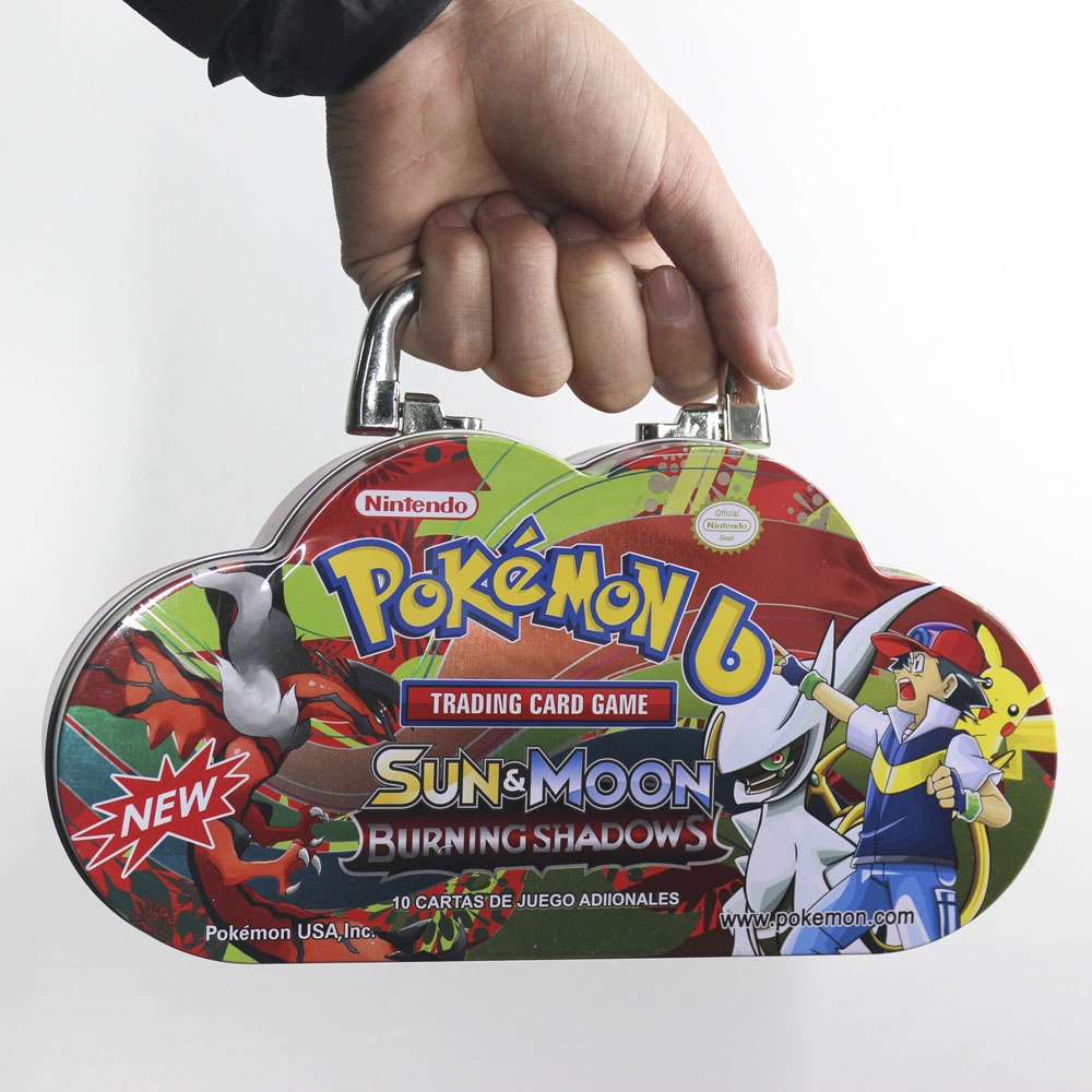 TAKARA TOMY Pokemon Cards Game Japan Anime Collection Board Cards Battle Toys Metal Box 115cards For Kids Gifts