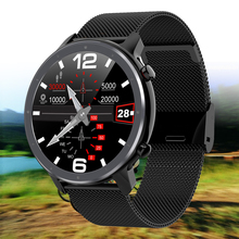 цена на IP68 Waterproof Smart Watch Men Full Round Touch Screen ECG Heart Rate Blood Pressure Oxygen Weather Sport Smartwatch VS L9 DT78