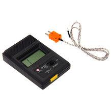 Digital lcd k tipo termômetro medidor de temperatura única entrada pro termopar sensor detector sonda leitor medidor