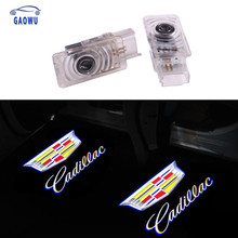 2pcs LED Car Door Courtesy Light Laser Projector Logo For Cadillac SRX XTS XT4 XT5 XT6 ATS CT6 Logo light Ghost Shadow Lamp(China)