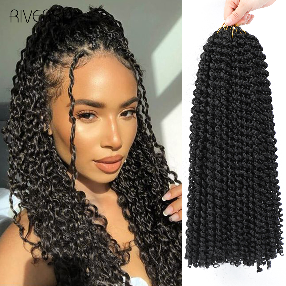 Pre-Twisted Passion Twist Synthetic Hair Crochet Hair Braids Perruque Tresse Africaine Dreadlocks Natural Faux Locs Hair Riversa