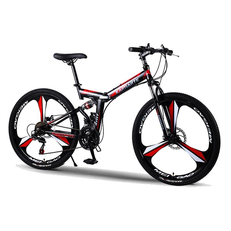 Wolface bicicletas de estrada corrida bicicleta dobrável mountain bike 26/24 Polegada aço 21/24/27 velocidade bicicletas freios a disco duplo