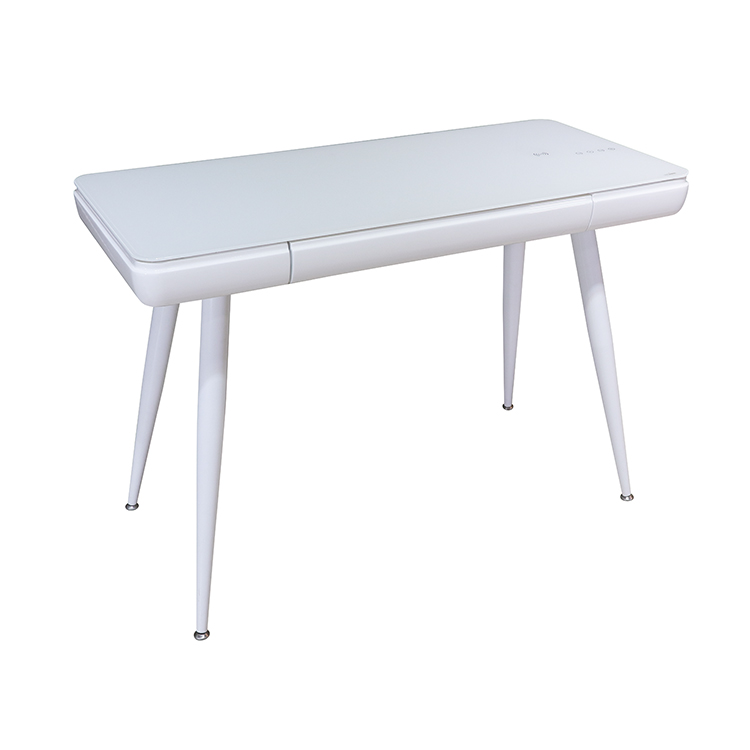 Creative Ergonomic Computer Desk Simple Tempered Glass Countertop Drawer Study Table Writing Desk Smart Office Table