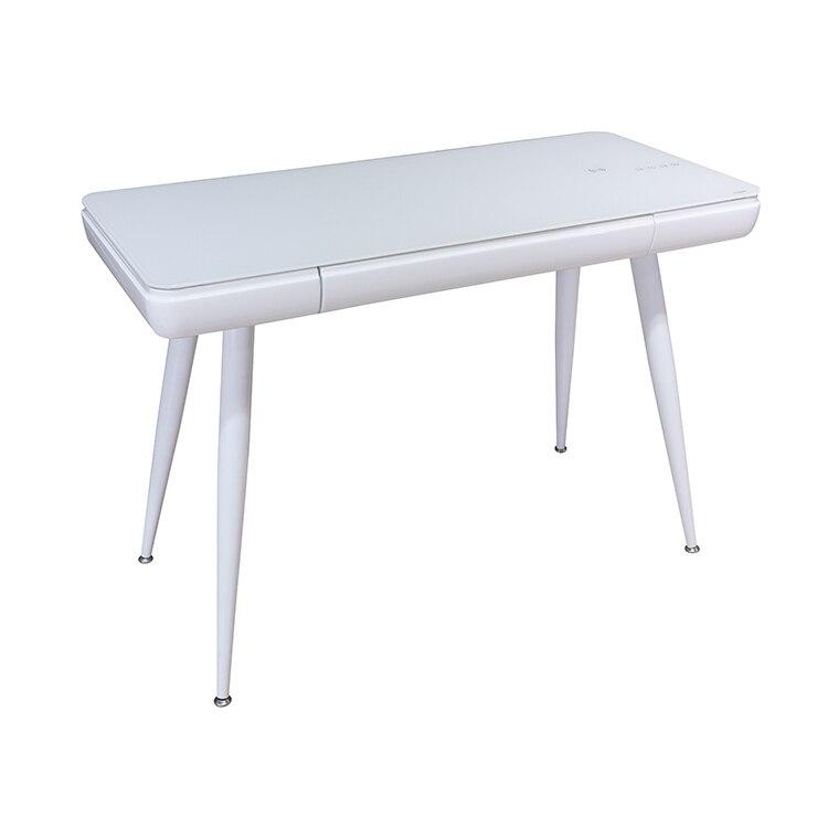 Creative Ergonomic Computer Desk Simple Tempered Glass Desktop Drawer Study Table Smart Audio Writing Desk Office Table
