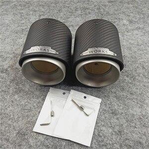 Image 5 - 1 قطعة أعلى جودة الكربون العادم الخمار نصائح ل ميني كوبر S R55 R56 R57 R58 R59 R60 R61 F54 F56 F57 F60 JCW الخمار أنابيب