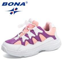Designer Sneakers Footwear Running-Shoes BONA Girl Boy Child New Soft-Bottom Comfortable