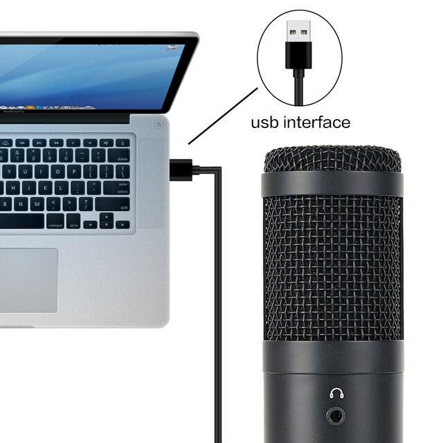 Купить конденсаторный usb микрофон конденсаторный компьютер для пк картинки