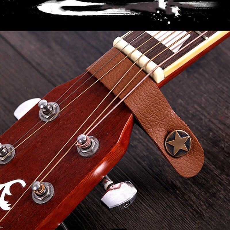 Suport pentru chitară din piele durabilă, buton, blocare sigură, - Instrumente muzicale - Fotografie 3