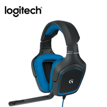 Logitech G430 7.1 Surround Game Stereo USB przewodowy zestaw słuchawkowy regulowany redukcja szumów obrotowy zestaw słuchawkowy w/Mic dla PC/PUBG słuchawki