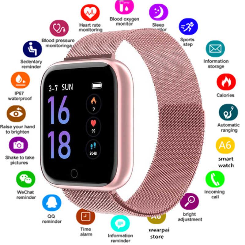 2019 femmes étanche montre intelligente P70 P68 Plus Bluetooth Smartwatch pour Apple IPhone Xiaomi moniteur de fréquence cardiaque Fitness Tracker