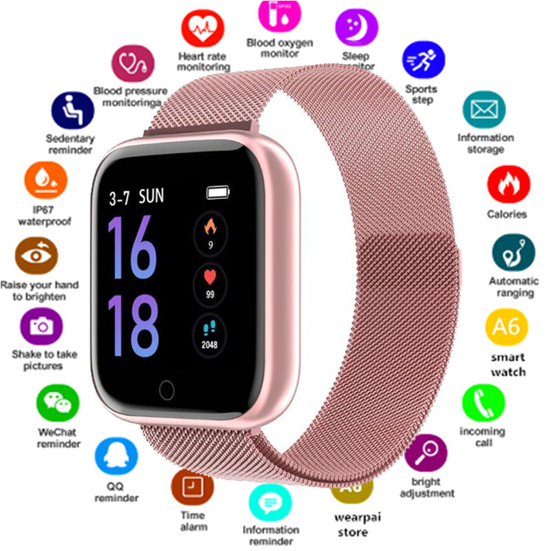 Smart Watch Women Waterproof P70 P68 Plus Bluetooth Smartwatch For Apple IPhone Heart Rate Monitor Fitness Tracker Smart Watches