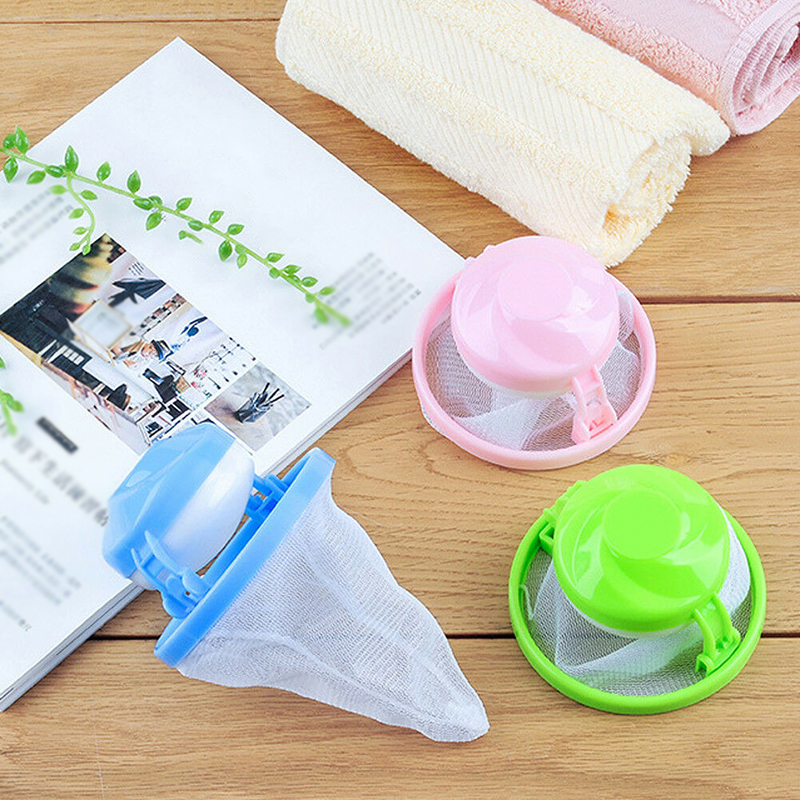 Home Laundry Filter Bag Lint Catcher Mesh Floating Washing Strainer Replacement Accessories