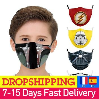 Reusable Mouth Mask Summer Breathable Adult Star Wars  Mask Superhero Cute Anime Cartoon Printed Kids Masks Dropshipping